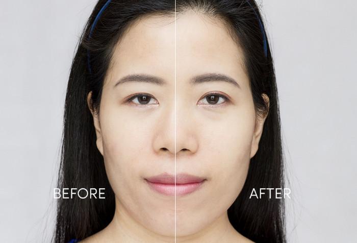 Эффект до и после